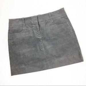 J. Crew grey corduroy skirt